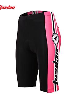 TASDAN パッド入りサイクリングショーツ 女性用 バイク ショートパンツ 下着ショーツ パッド入りショーツ 高通気性 速乾性 3Dパッド 反射性トリム モイスチャーコントロール ナイロン サイクリング/バイク 夏 レッド ピンク