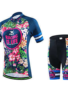 Cycling Jersey with Shorts Women's / Men's / Unisex Short Sleeve BikeBreathable / Quick Dry / Wearable / 3D Pad / Back Pocket /