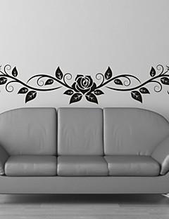 Romantiek / Mode / Bloemen Wall Stickers Vliegtuig Muurstickers,PVC M:23*100cm / L:35*150cm
