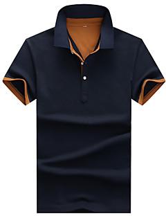 Pánské Bavlna / Modal Denní nošení / Pracovní / Formální / Sportovní Jednobarevné Polo Krátký rukáv