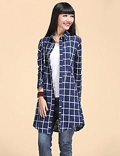 Dámské Nabírané šaty Polyester Košile Košilový límec Dlouhý rukáv