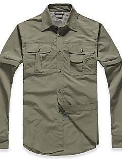 Homens Blusas Acampar e Caminhar / Pesca / Trilha Impermeável / Respirável / Secagem Rápida / Resistente Raios Ultravioleta / Vestível