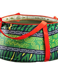 HIMAGET® 10L Ultralight Outdoor Nylon Folding Water Washbasin Portable Wash Bag Foot Bath Camping Travel Kits