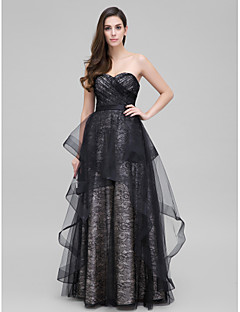 TS Couture Prom Formal Evening Dress - Elegant A-line Sweetheart Floor-length Lace with Lace Criss Cross