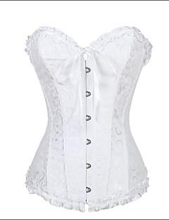 Damen Brustkorsett Nachtwäsche Jacquard-Nylon / Polyester / Elasthan / Modal Weiß Damen