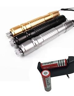 LS1662 High Quality 10mw 305 Laser Pointer  Burning Laser Presenter Green Laser Pointer +18650 Battery+EU Charger