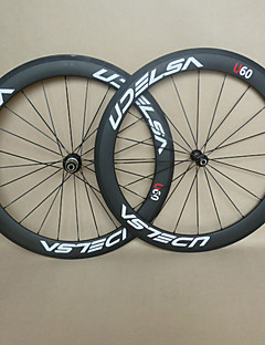 UDELSA 23mm Wide Carbon Wheels 60mm Tubular Road Racing with R13 Hubs 20/24H
