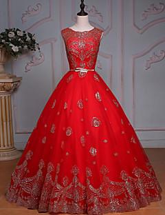 Princess Wedding Dress-Ruby Floor-length Jewel Tulle / Sequined