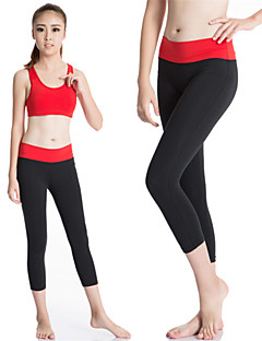בגדי ריקוד נשים טייץ לריצה שכבת בסיס ייבוש מהיר דחיסה תומך זיעה בגדים צמודים 3/4 טייץ מכנסיים חותלות ל יוגה כושר גופני ספורט פנאי ריצה