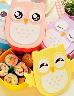 1050ml niedliche Eule Lunch-Box Lagerbehälter portable bento Lebensmittel sicher Picknick Behälter (gelegentliche Farbe)