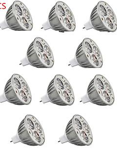 Spot LED Décorative Blanc Chaud / Blanc Froid / RGB HRY 10 pièces MR16 GU5.3(MR16) 9W 3 LED Haute Puissance 900 lm DC 12 V