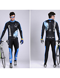 Cycling Jersey with Tights Men's Long Sleeve BikeBreathable / Quick Dry / Moisture Permeability / Sweat-wicking / Reflective Strips /