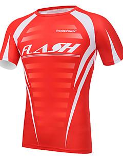 XINTOWN® חולצת ג'רסי לרכיבה לגברים שרוול קצר אופניים נושם / ייבוש מהיר / עמיד אולטרה סגול / דחיסה / חומרים קלים טי שירט / ג'רזי / צמרות