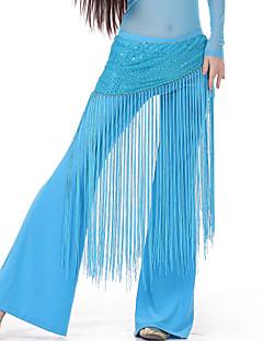 Χορός της κοιλιάς / Αίθουσα χορού-Ζώνη-Γυναικεία(Μαύρο / Μπλε / Φούξια / Ροζ / Βυσσινί / Κόκκινο / Κίτρινο,Σπαντέξ,Φούντα(-ες))