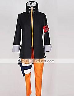 Вдохновлен Наруто Naruto Uzumaki Аниме Косплэй костюмы Косплей Костюмы Пэчворк Черный / ОранжевыйКофты / Брюки / Головные уборы / Больше