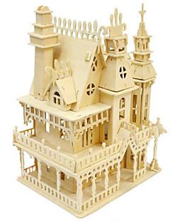 Jigsaw Puzzle 3D építőjátékok / Fából készült építőjátékok Építőkockák DIY játékok Ház Fa Arany Építő játékok
