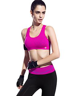Lady Fashion Padded Bra Top Gym Sports Yoga Stretch Athletic Vest Black with Blue Print 003