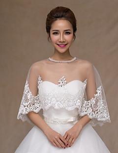 웨딩 / 파티/이브닝 레이스 / 명주그물 판초 민소매 결혼식 랩