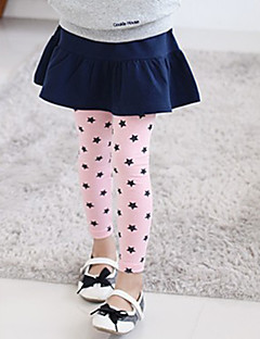 Girl's Cotton Summer Embroider Stars Leggings
