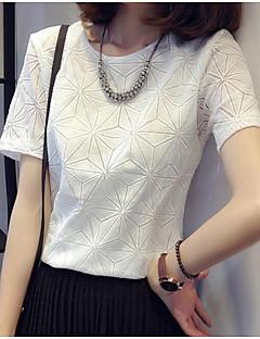 Vrouwen Geometrisch T-shirt Ronde hals,Korte mouw,Polyester