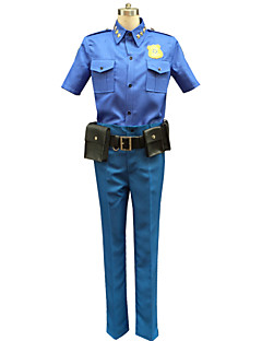 Cosplay Costumes Animal / Fairytale Movie Cosplay Blue Print Top / Pants / Belt / Bags and Purses Halloween / Christmas / New Year Male