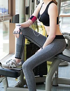 Yoga Pants Meia-calça Respirável / Compressão Natural Elasticidade Alta Wear Sports Cinzento / Preto Mulheres OutrosIoga / Pilates /