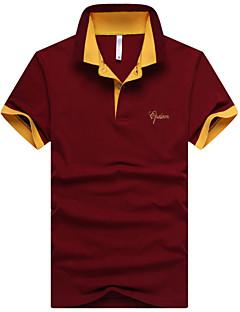 Men's Short Sleeve ,Cotton / Modal Casual / Work / Formal / Sport Pure