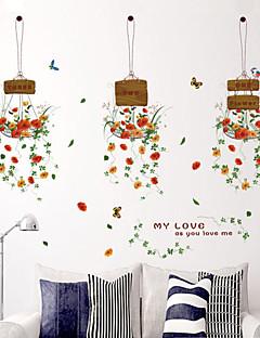 Botanisch / Mode / Blumen Wand-Sticker Flugzeug-Wand Sticker,PVC 50*70cm(19.7*27.6 inch)