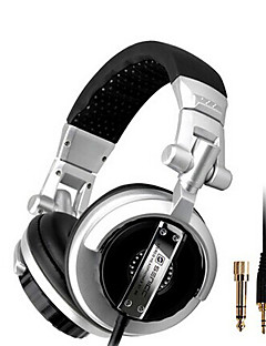 SENICC ST-80 Over-Ear Monitoring Headphone woth Mic, Remote and 6.3mm Adapter for PC/iPhone/Samsung/HTC