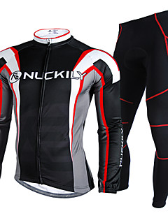 NUCKILY® Cycling Jersey with Tights Men's Long Sleeve Bike Waterproof / Thermal / Warm / Rain-Proof / Reflective StripsJersey +