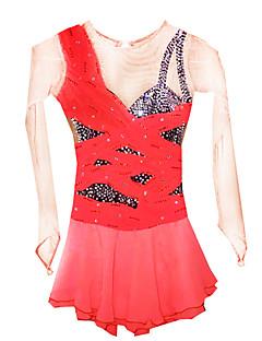 Skating Dresses Women's Orange S / M / L / XL / 6 / 8 / 10 / 12 / 14 / 16 Others
