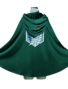 Inspiré par Attack on Titan Eren Jager Anime Costumes de cosplay Hoodies Cosplay Imprimé Vert Manche Longues Top