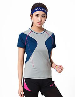 Makino® לנשים שרוול קצר ריצה טי שירט נושם קיץ בגדי ספורטמחנאות וטיולים ציד דיג טיפוס כושר גופני גולף מירוץ ספורט פנאי בדמינטון כדורסל