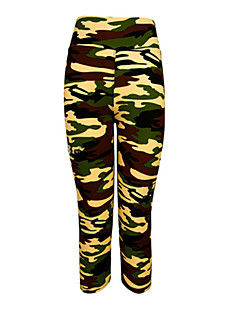 Running Leggings / Pants/Trousers/Overtrousers / 3/4 Tights / Bottoms Women's Quick Dry / Wearable / Compression / Shockproof Elastane