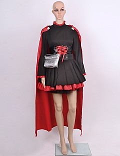 Inspired by RWBY Ruby Anime Cosplay Costumes Cosplay Suits Solid Black Long Sleeve Cloak / Dress / Corset