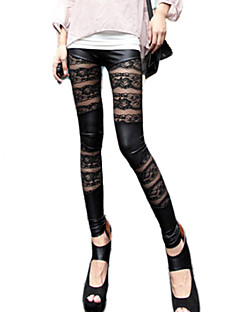 Hight Quality Women Stitching Lace Legging,Polyester Medium