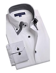JamesEarl Herren Hemdkragen Lange Ärmel Shirt & Bluse Weiß - BA102050525