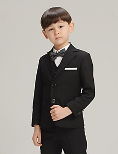 Black Cotton Ring Bearer Suit-4 Pieces