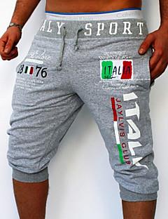 Men's Letter Sport Sweatpants,Cotton Black / Blue / White / Gray