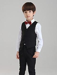 כותנה חליפה לנושא הטבעת - 4 חתיכות כולל חולצה / וסט / מכנסיים / עניבת פרפר