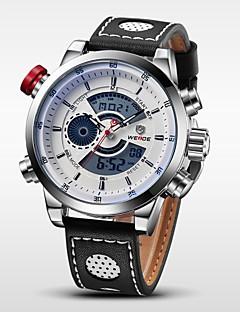 WEIDE® Luxury Brand Genuine Leather Watch Men Quartz Digital Fashion Military Sports Wristwatch Cool Watch Unique Watch