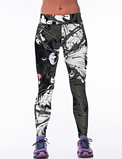Yoga Pants Fundos Respirável Natural Stretchy Wear Sports Preto Mulheres Outros Ioga / Fitness / Corridas / Corrida