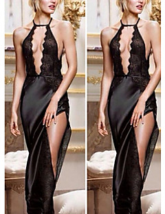 Women V Neck Gown Sleepwear