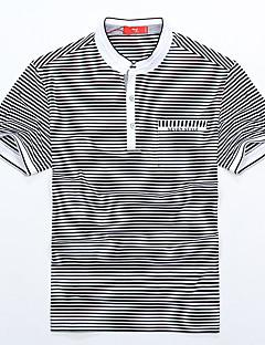 Sieben Brand® Herren Hemdkragen Kurze Ärmel T-Shirt Schwarz-70T574288