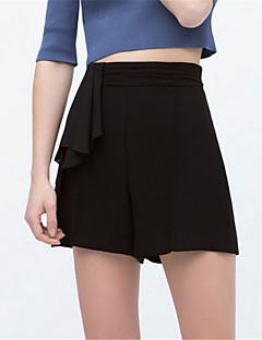 Kvinner Gatemote Shorts Bukser Polyester Uelastisk