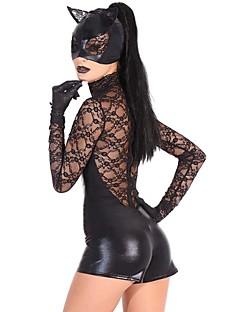 Cosplay Kostýmy / Kostým na Večírek Zvířecí Festival/Svátek Halloweenské kostýmy Černá JednobarevnéLeotard/Kostýmový overal / Rukavice /