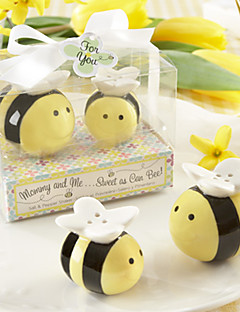 Mommy and Me Sweet as Can Bee Ceramic Honeybee Salt and Pepper Shakers Baby Shower Favors BETER-TC019