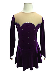 Műkorcsolya ruha Női Hosszú ujj Korcsolyázás Ruhák Műkorcsolya ruha Kézzel készített Elasztán Kűrruhák Klasszikus