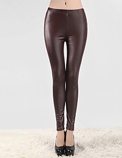 Dun-Polyester / PU / Spandex-Legging-Vrouw-Legging