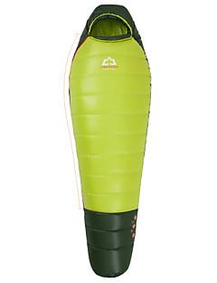 침낭 미라형 침낭 싱글 -8°C~-3°C 오리다운 400g 203cm X 80cm 하이킹 / 캠핑 / 바닷가 / 낚시 / 여행 / 야외 / 실내 호흡 능력 / 바람 방지 / 따뜻함 유지 / 압축 / 추운 날씨 HIGHROCK®